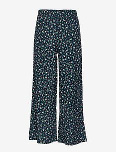 PUK WIDE PANTS - trousers - navy blazer