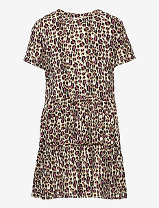 TRINITY S_S DRESS - kleider - leopard