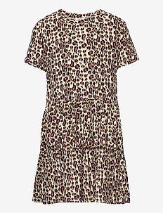 TRINITY S_S DRESS - jurken - leopard