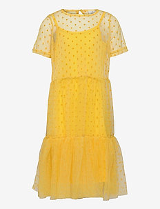 UMA TWIST DRESS - kleider - primrose yellow