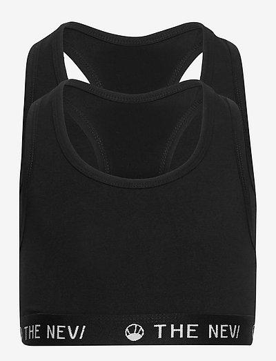 2-PACK ORGANIC TOP NOOS - night & underwear - black/black