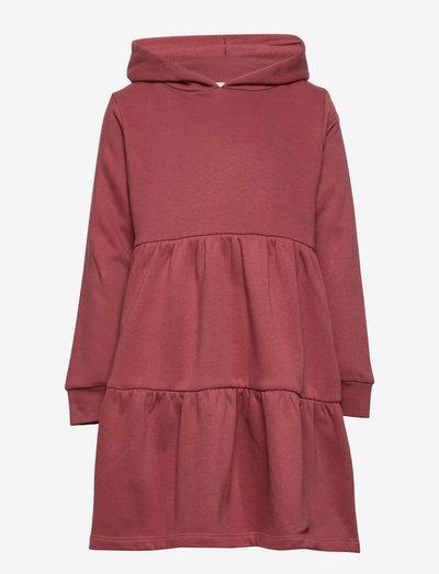 TNVILDE HOODIE SWEATDRESS - kjoler & nederdele - apple butter