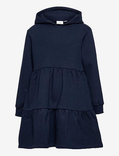 TNVILDE HOODIE SWEATDRESS - kjoler & nederdele - navy blazer