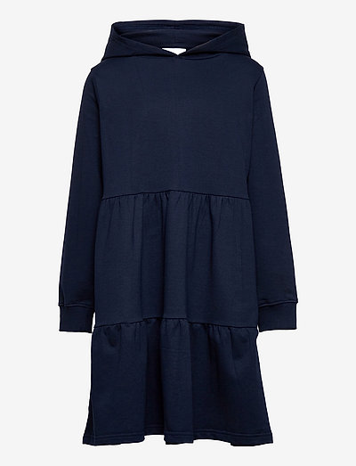 EXIT HOODIE SWEAT DRESS - kjoler & nederdele - navy blazer