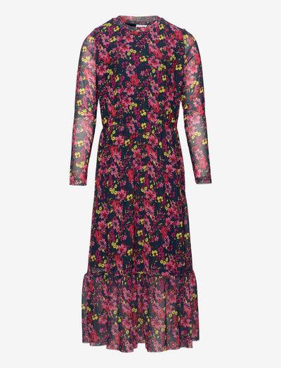 TNALIA MAXI MESH L_S DRESS - kjoler - aop floral