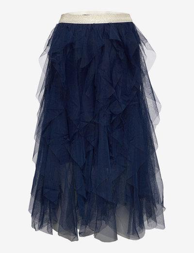 TNSILVIA TYLLE SKIRT NAVY BLAZER - nederdele - navy blazer