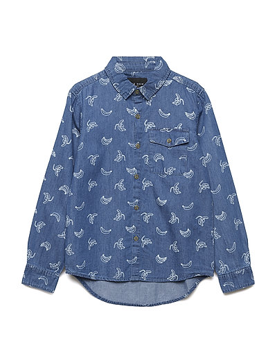 GLEN L_S SHIRT - LIGHT BLUE DENIM
