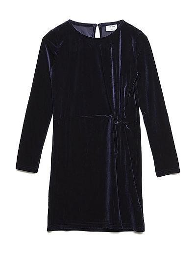 JILLA L_S DRESS - BLACK IRIS