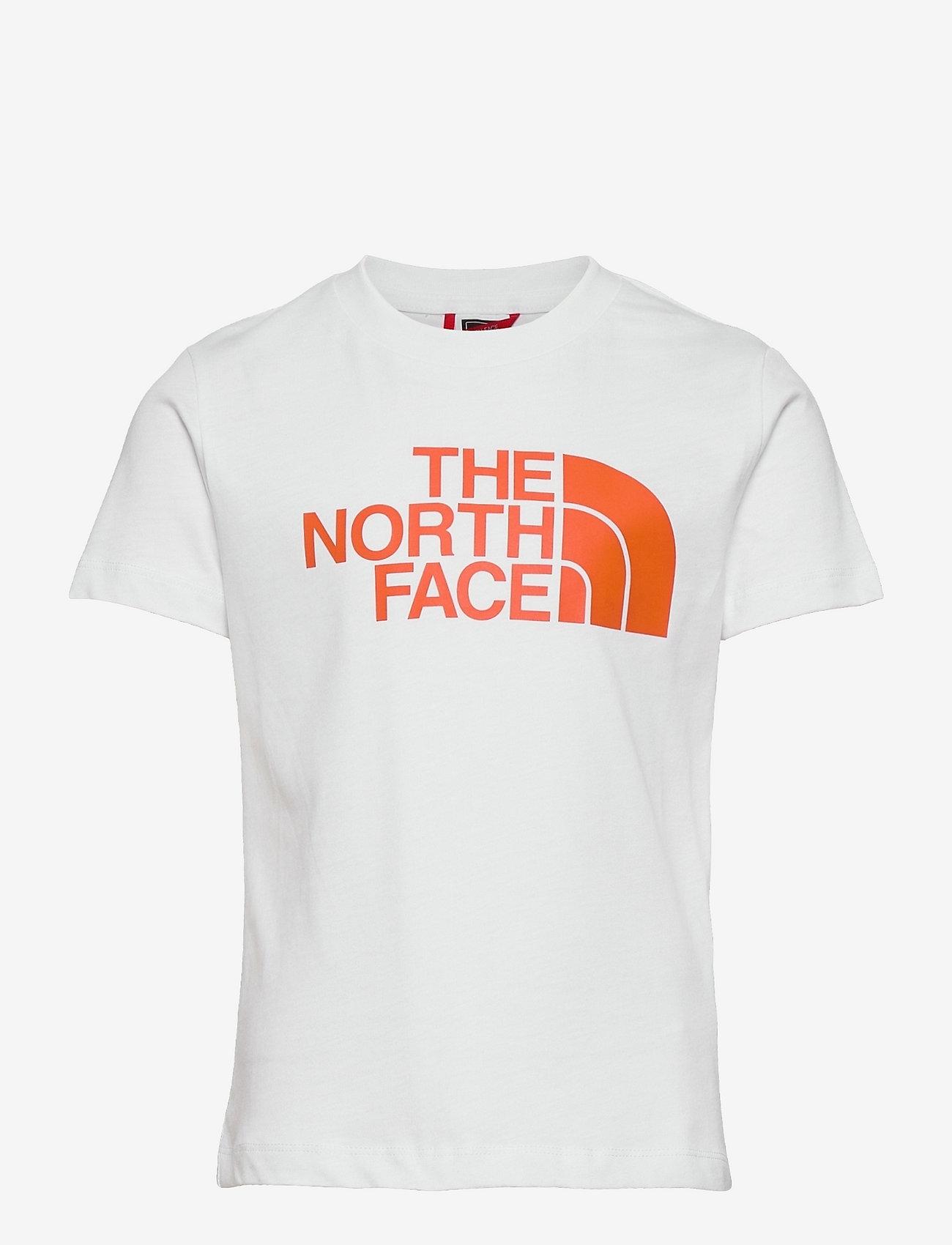 The North Face - Y S/S EASY TEE - korte mouwen - tnfwht/redorang - 0