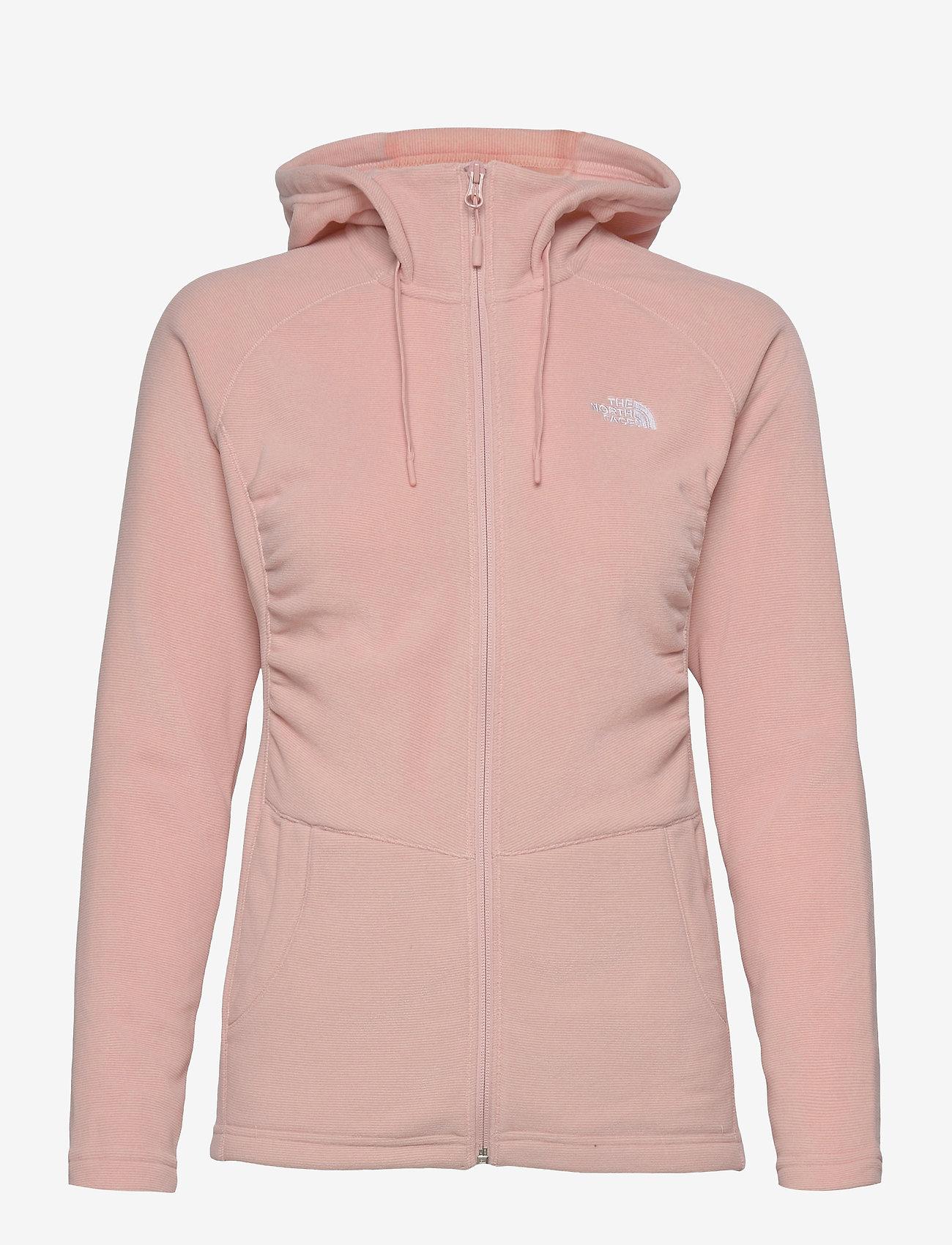 The North Face - W MEZZALUNA FLL ZP H - fleece - evening sand pink stripe - 0