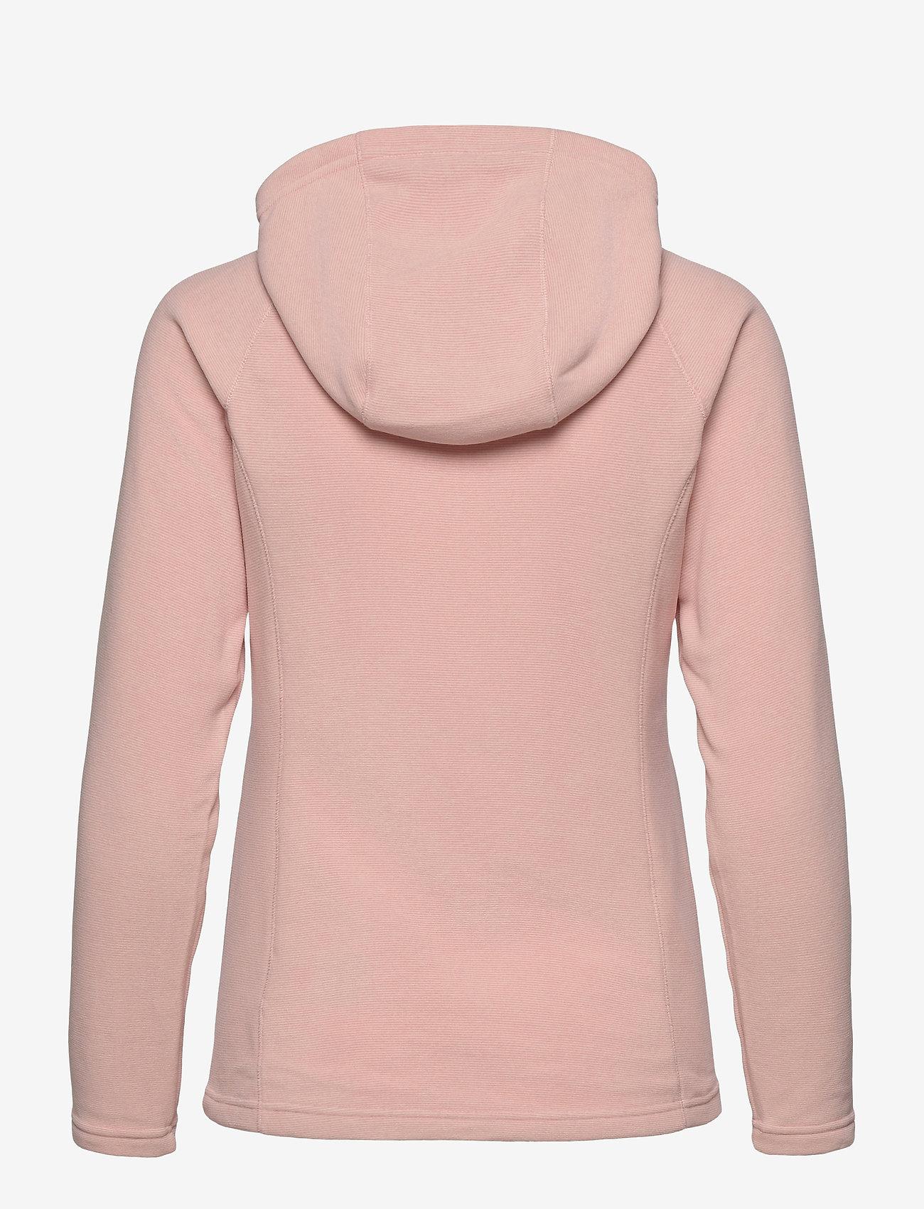 The North Face - W MEZZALUNA FLL ZP H - fleece - evening sand pink stripe - 1