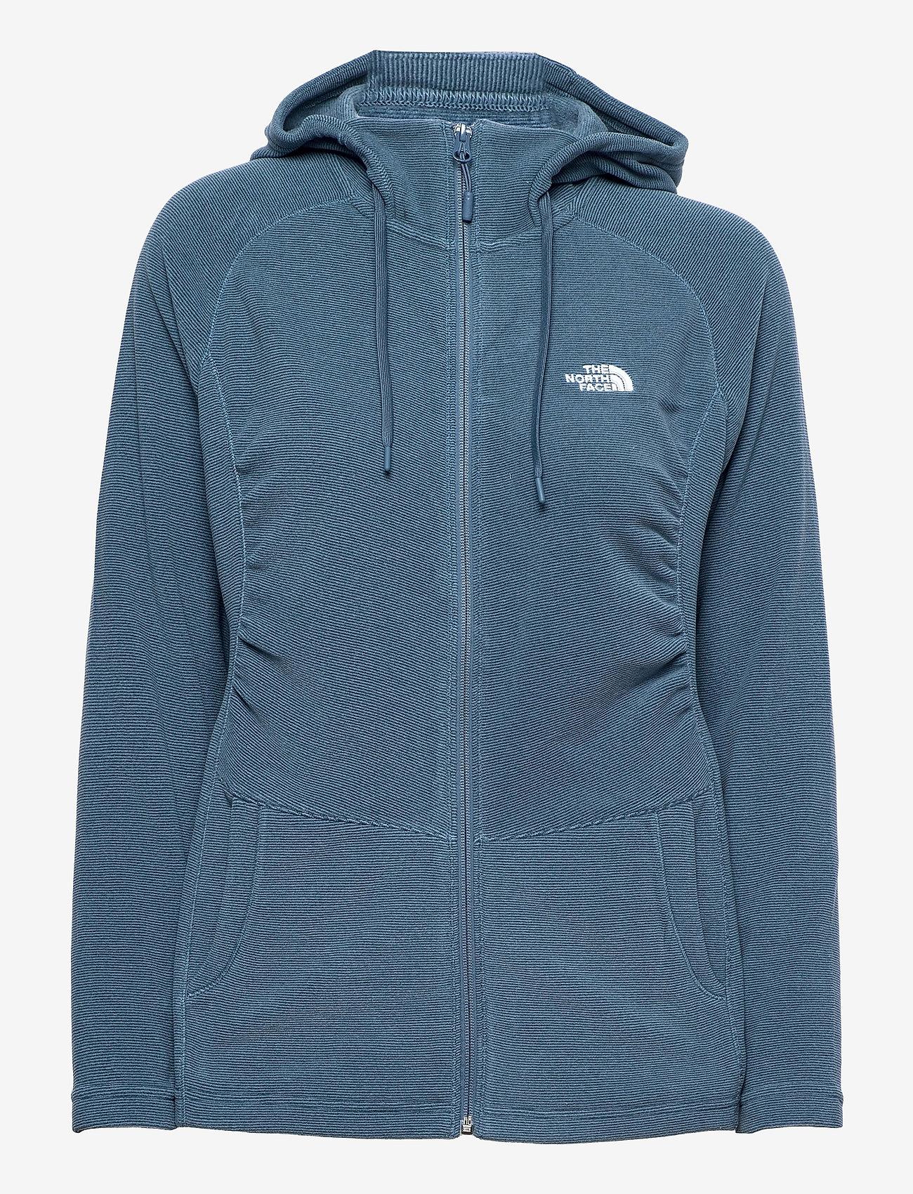 The North Face - W MEZZALUNA FLL ZP H - fleece - vintage indigo stripe - 0