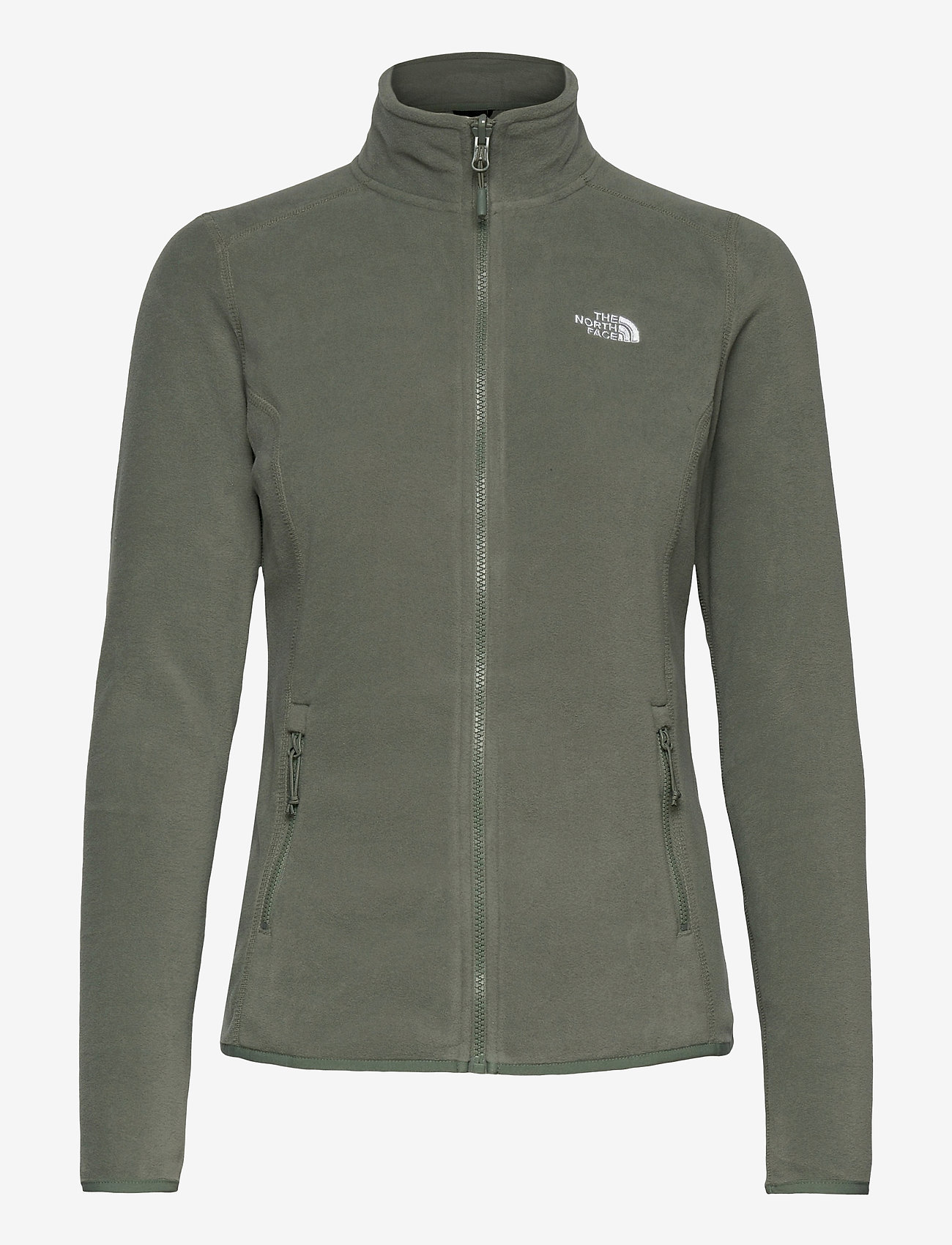 The North Face - W 100 GLACIER FULL ZIP - EU - fleece - agave green - 0