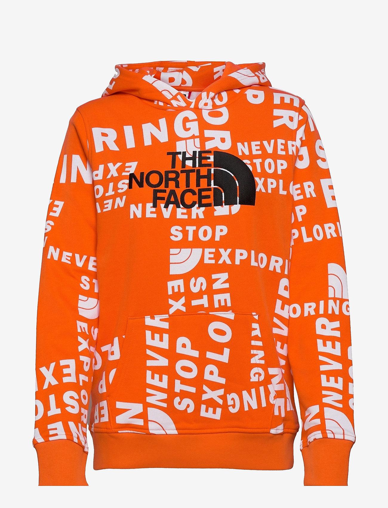 The North Face - Y DREW PEAK P/O HD - hoodies - rdorgtglntsprnt - 0