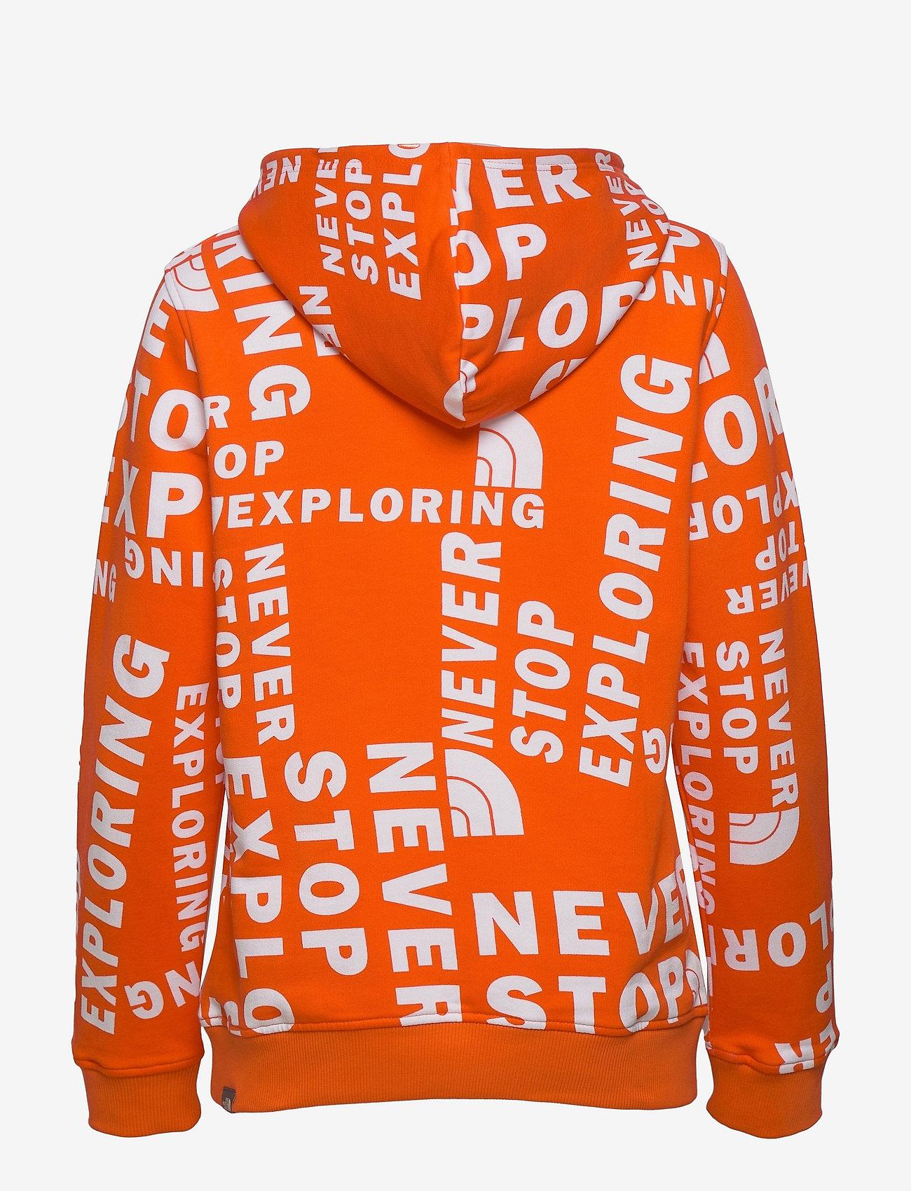 The North Face - Y DREW PEAK P/O HD - hoodies - rdorgtglntsprnt - 1
