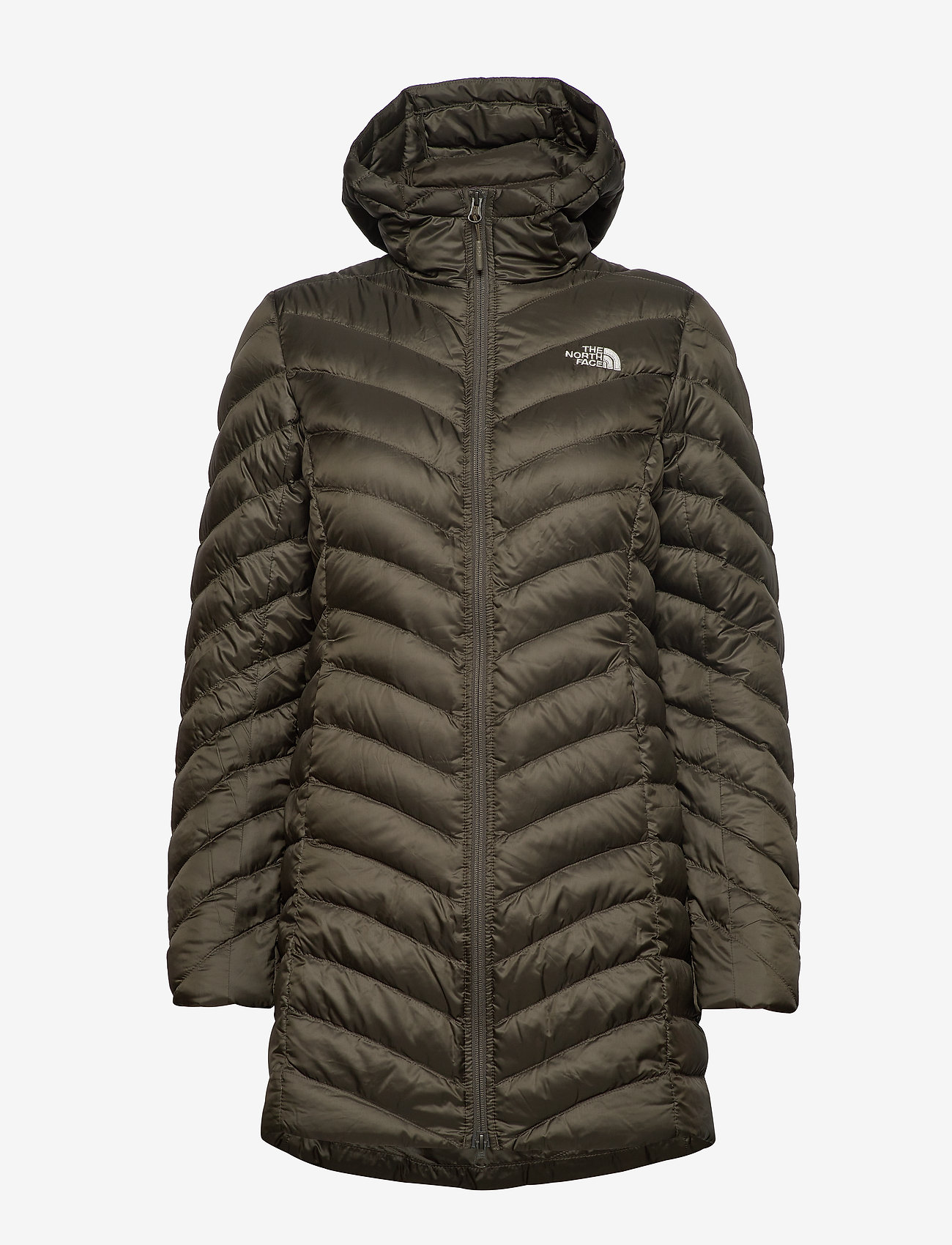 The North Face - W TREVAIL PARKA - kurtki puchowe - new taupe green - 1