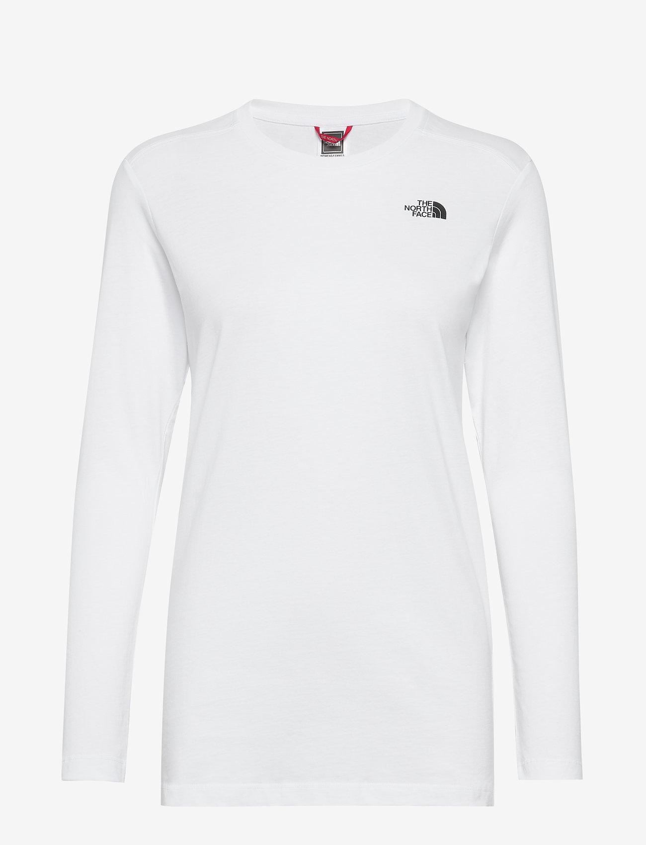 The North Face - W L/S SIMPLEDOME TEE - bluzki z długim rękawem - tnf white - 0