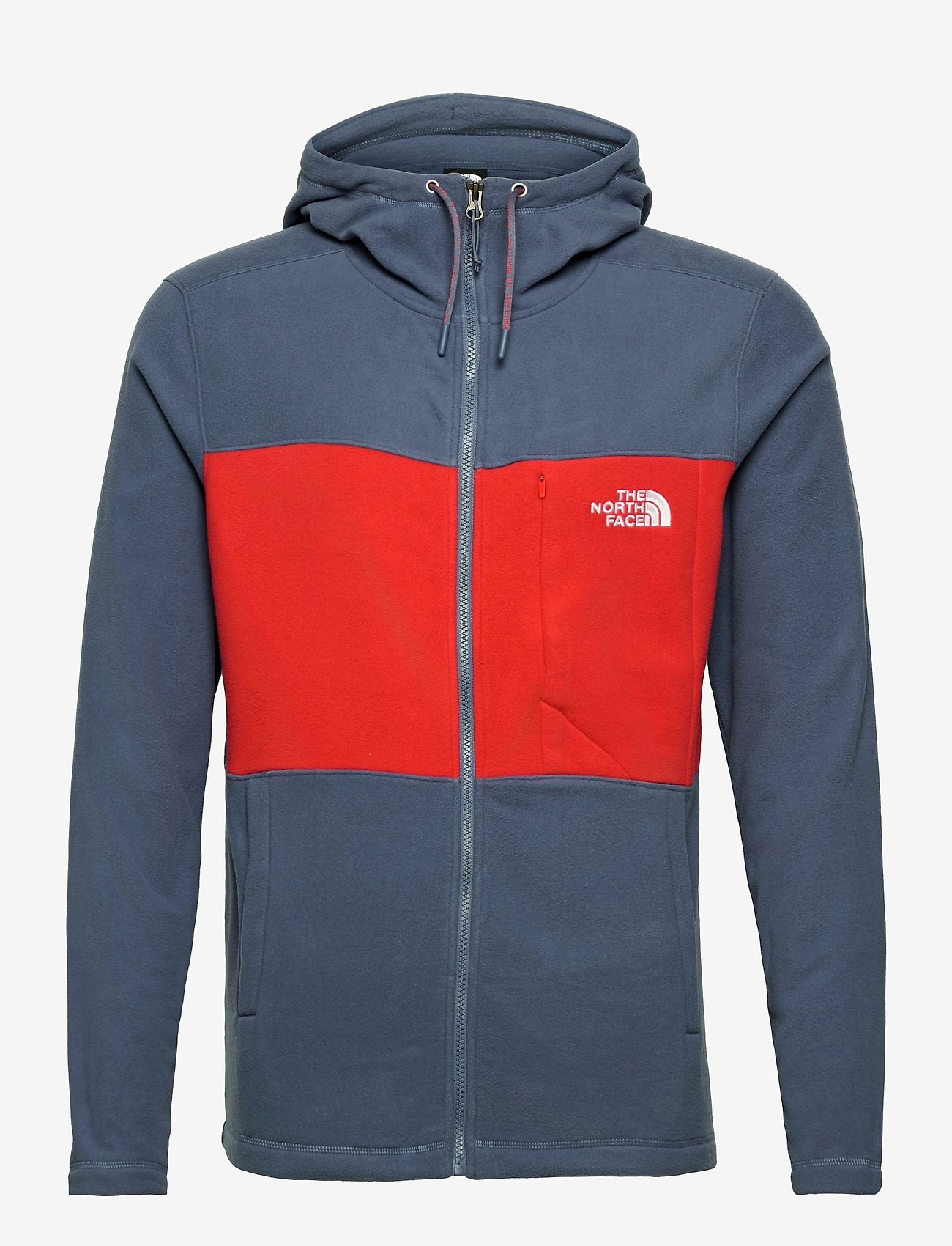 The North Face - M BLOCKED FZ HD - mid layer jackets - vintage indigo-rococco red - 0