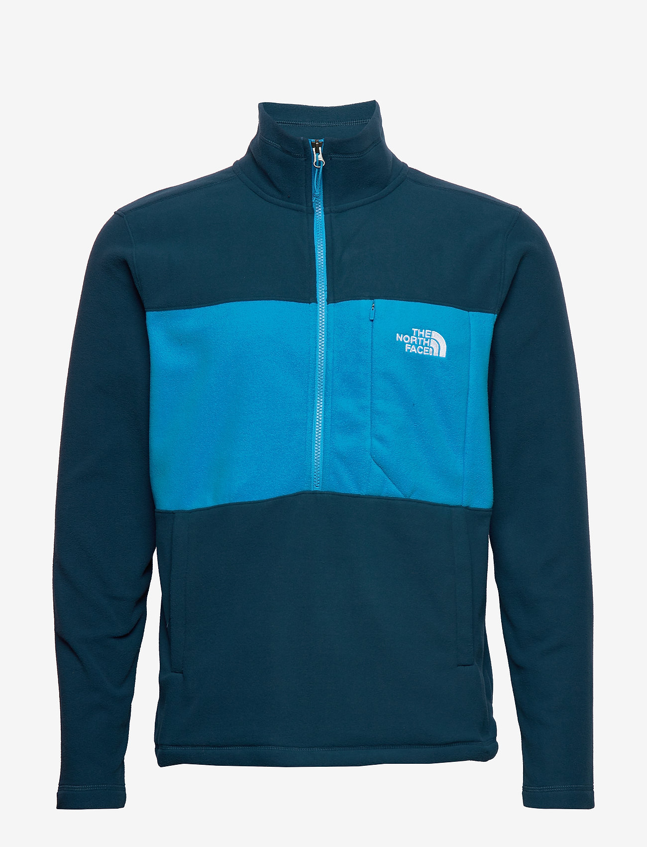The North Face - M BLOCKED 1/4 ZIP - mittlere lage aus fleece - bluwgtl/clrlkbl - 0