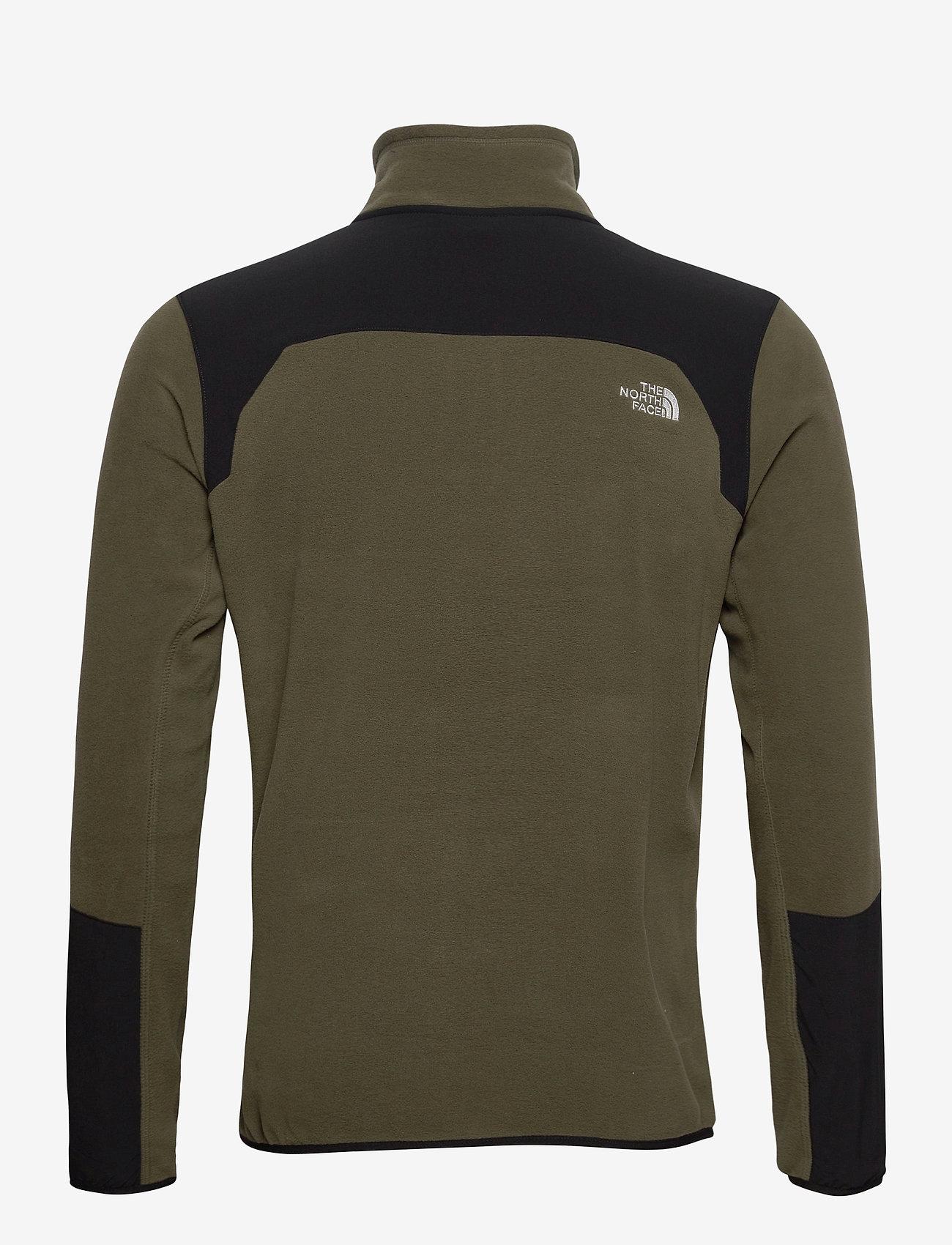 The North Face M GLACIER PRO FULL Z - Sweatshirts NEW TAUPE GREEN/TNF BLACK - Menn Klær