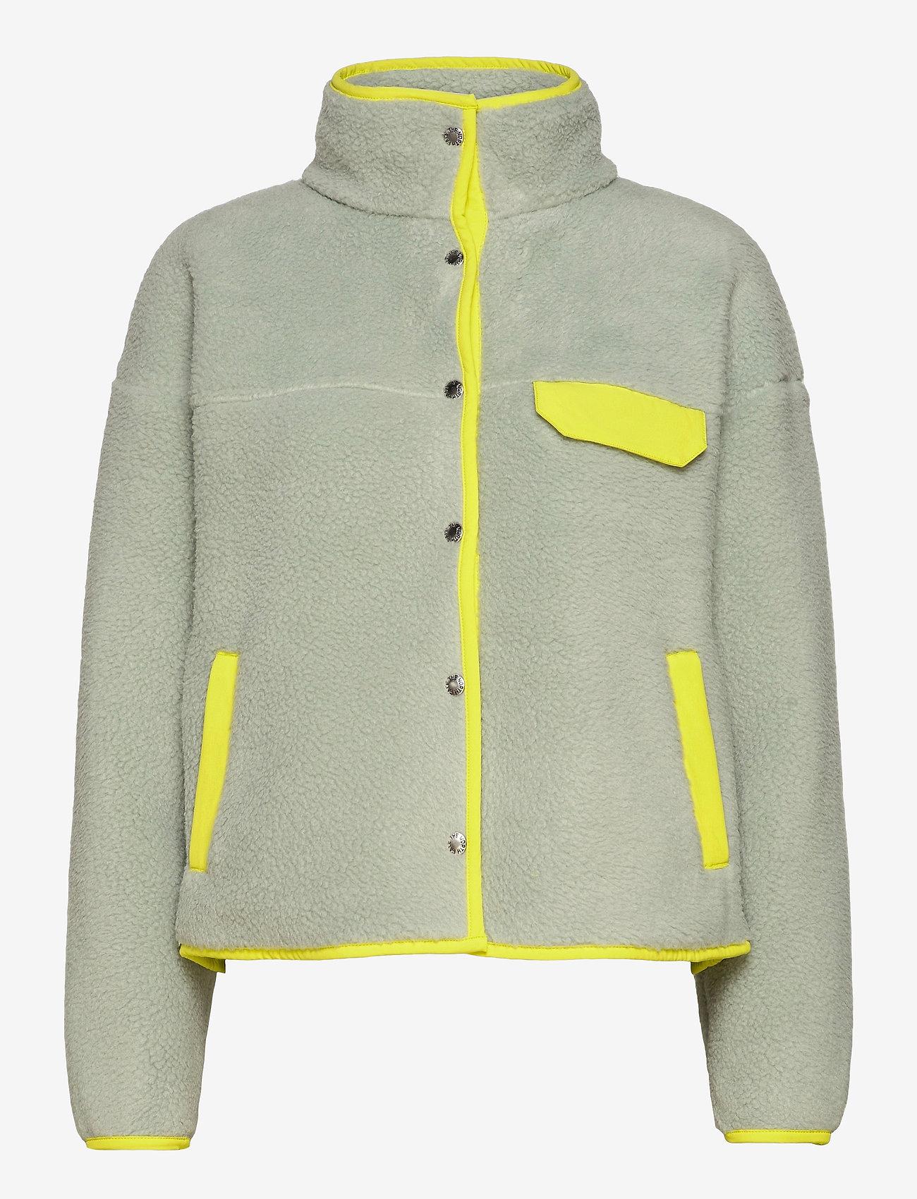The North Face - W CRAGMONT FLC JKT - fleece - wrought iron-sulphur spring green - 0