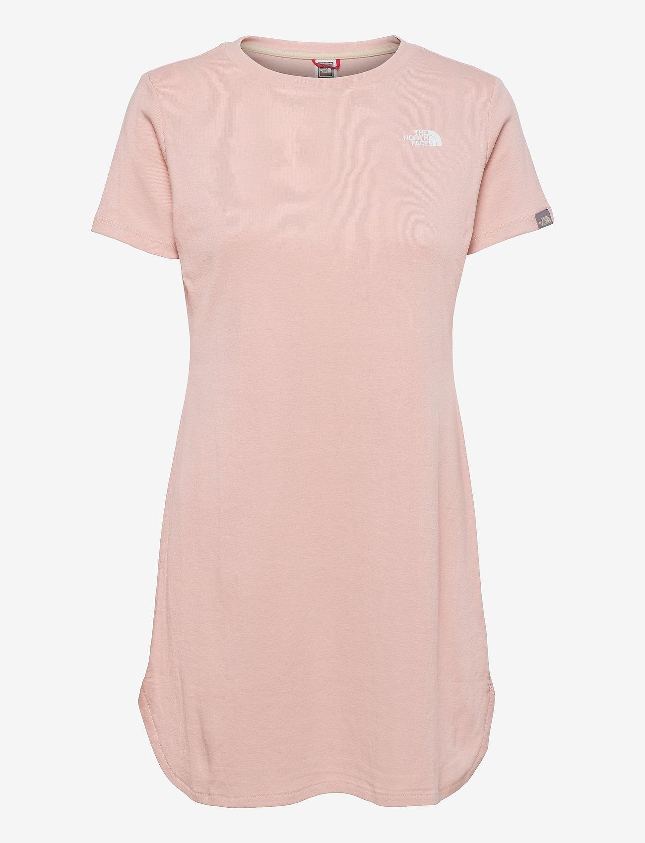 The North Face - W SIMPLE DM DRESS - t-shirtkjoler - evening sand pink - 0