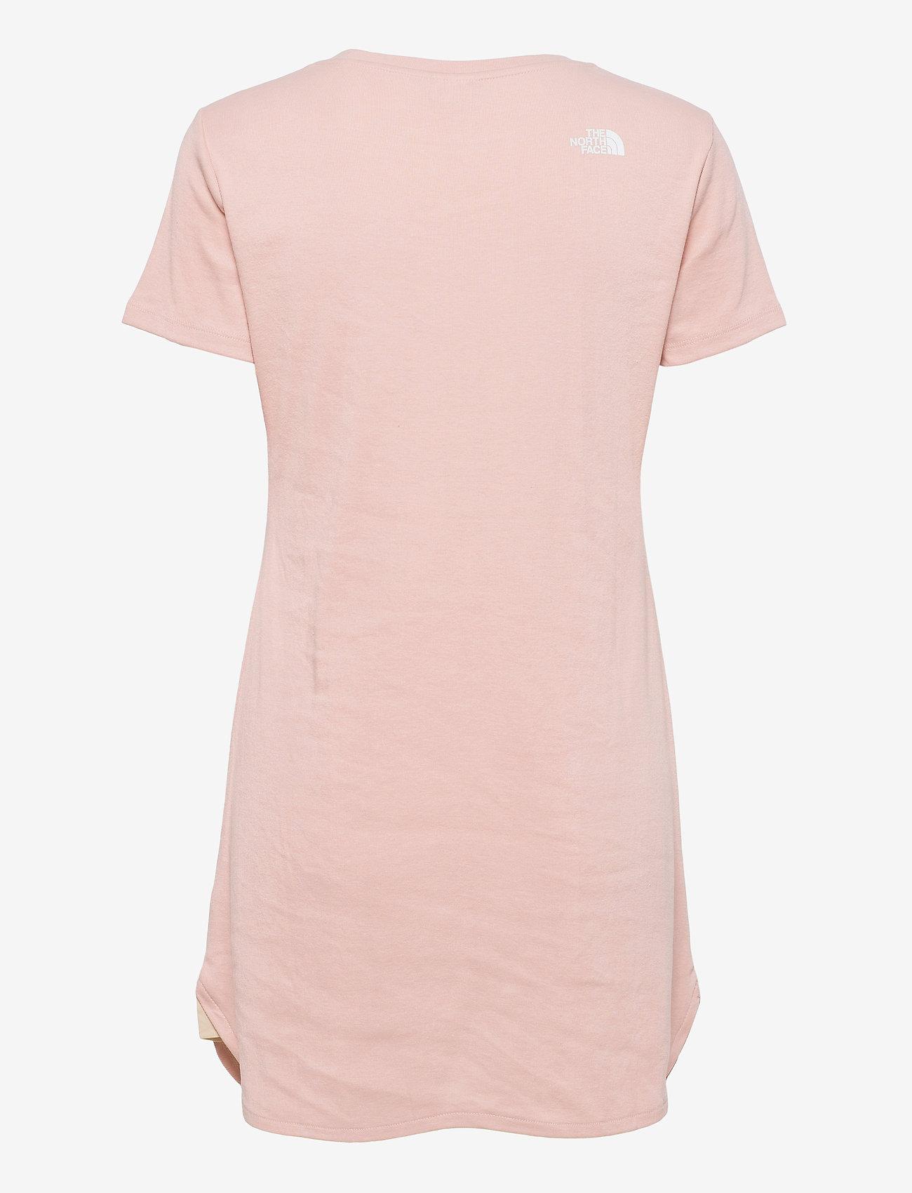 The North Face - W SIMPLE DM DRESS - t-shirtkjoler - evening sand pink - 1