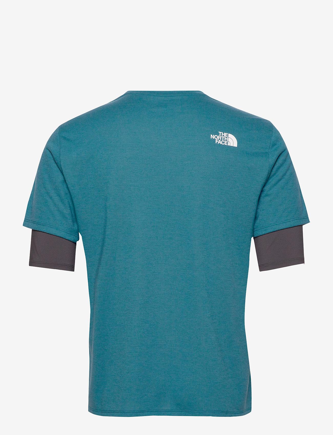 The North Face M AT S/S - T-skjorter MALLARD BLUE/ASPHALT GREY - Menn Klær