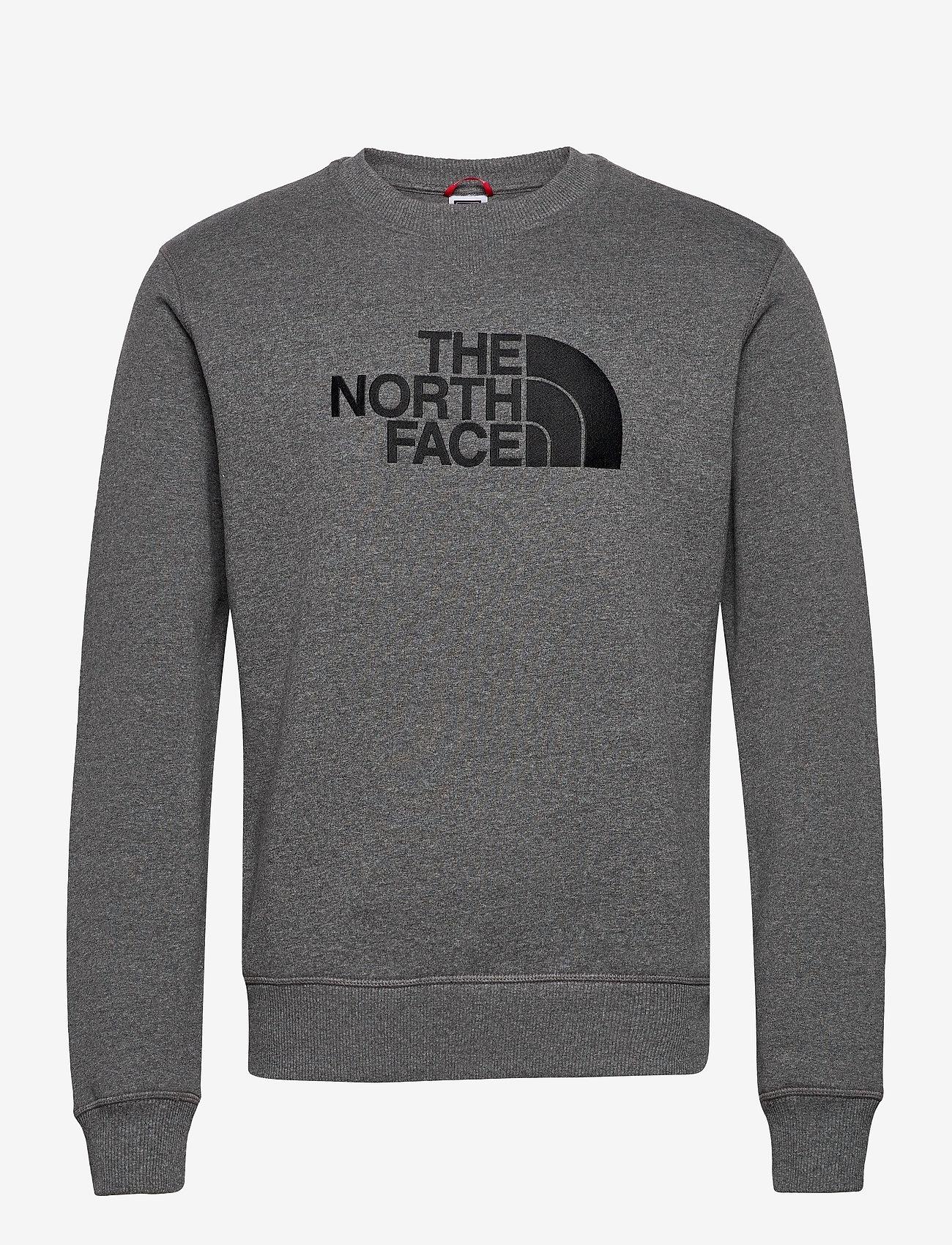 The North Face - M DREW PEAK CREW - sweats - tnfmdgyhr/tnfbk - 0