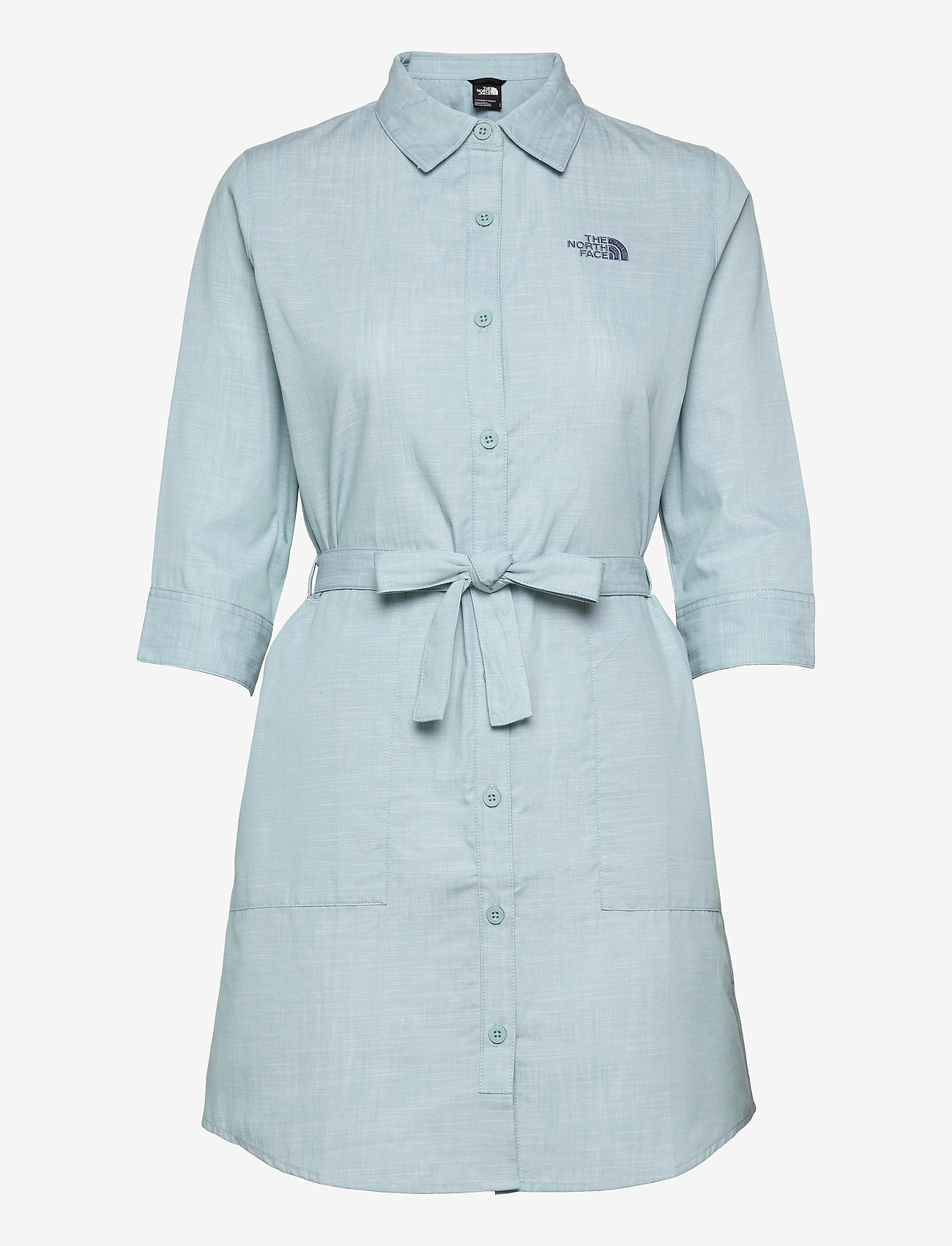 The North Face - W BERNINA DRESS - sommerkjoler - tourmaline blue chambray - 0