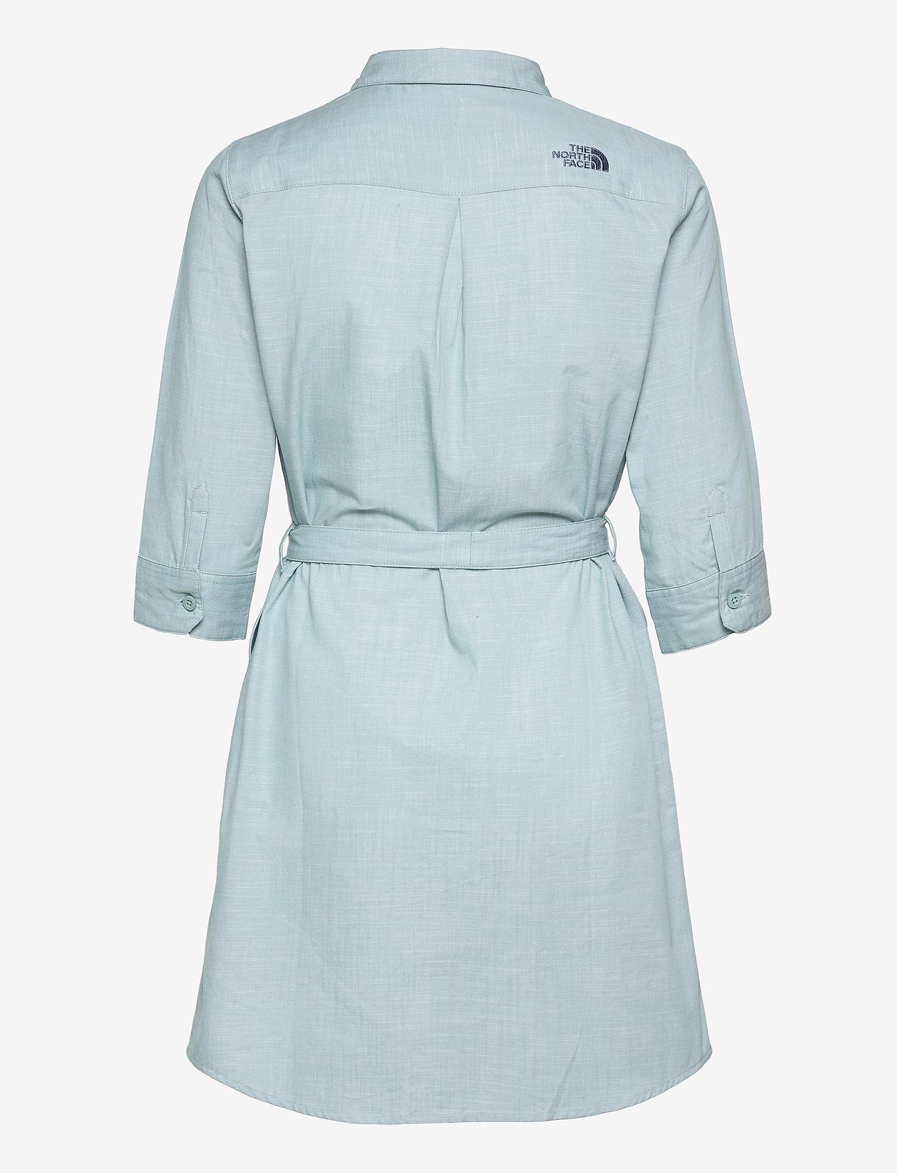 The North Face - W BERNINA DRESS - sommerkjoler - tourmaline blue chambray - 1