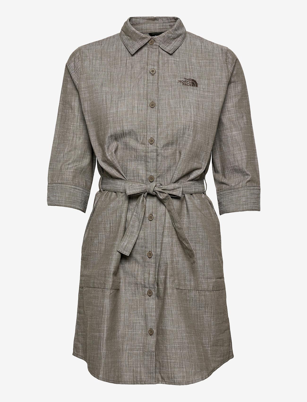 The North Face - W BERNINA DRESS - sommerkjoler - new taupe green chambray - 0