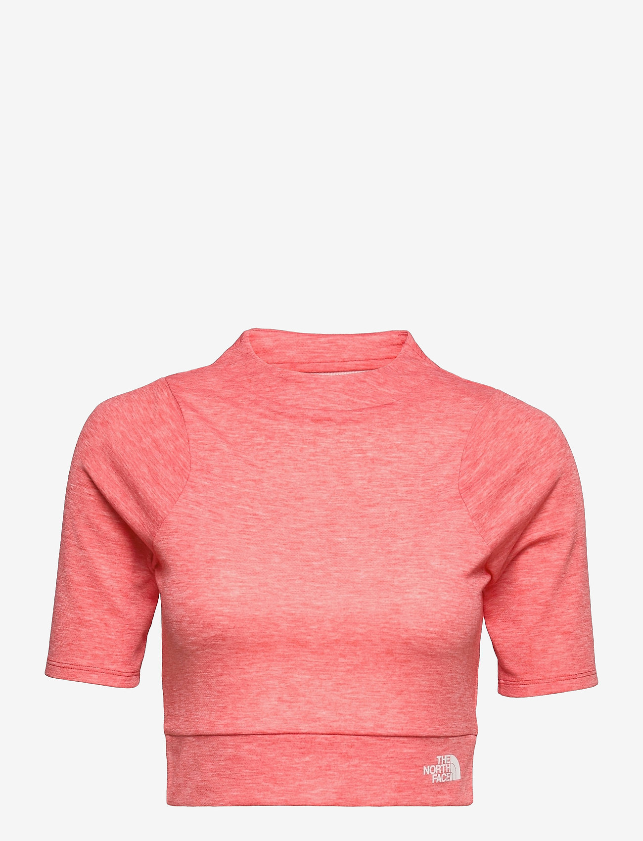 The North Face - W VYRTUE S/S CROP - crop tops - horizon red heather - 0