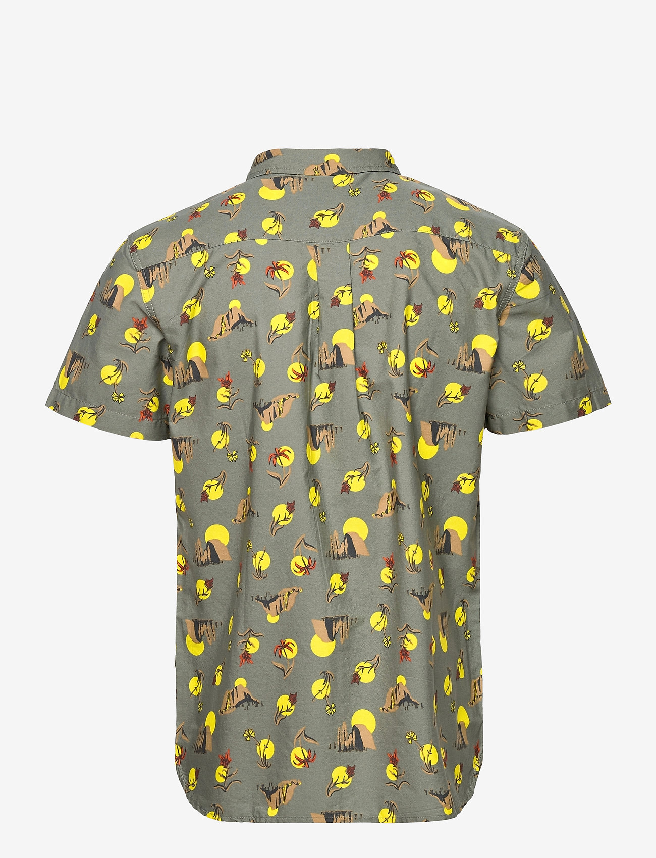 The North Face - M S/S BAYTRAIL SHRT - chemises de lin - agave green valley sun print - 1