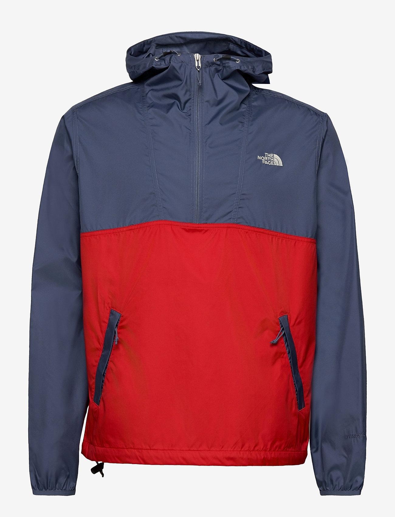 The North Face - M CYCLONE ANORAK - vestes d'extérieur et de pluie - vintage indigo-rococco red - 0