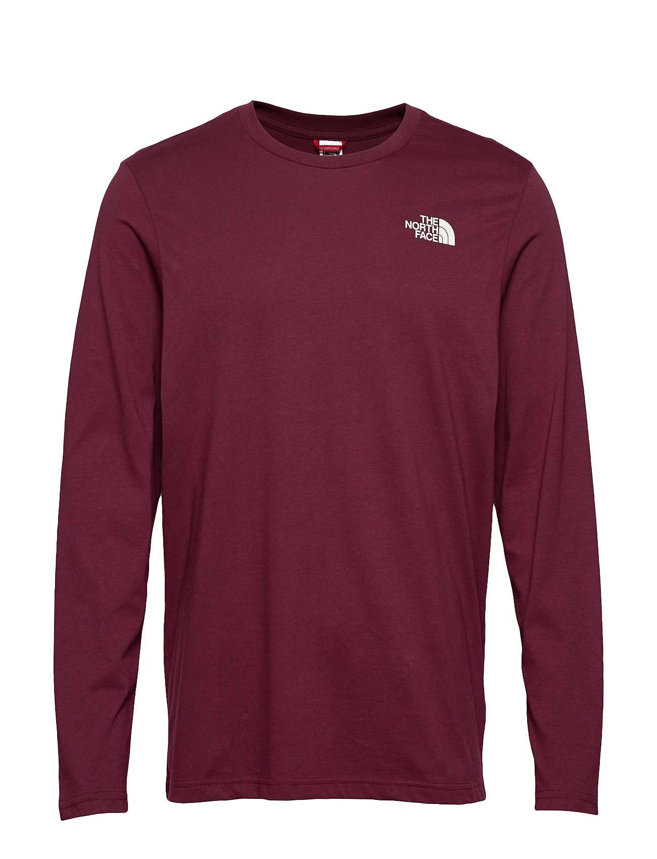 The North Face M L/S EASY TEE - DEEP GARNET RED