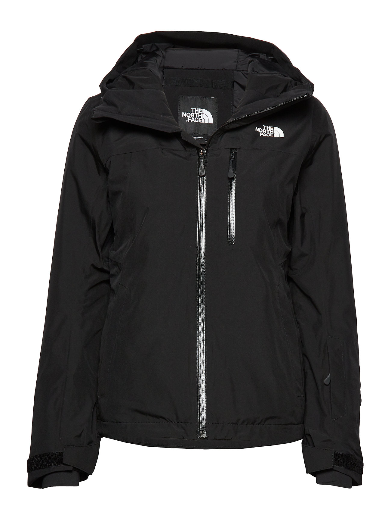 The North Face W DESCENDIT JACKET FIERY RED - TNF BLACK