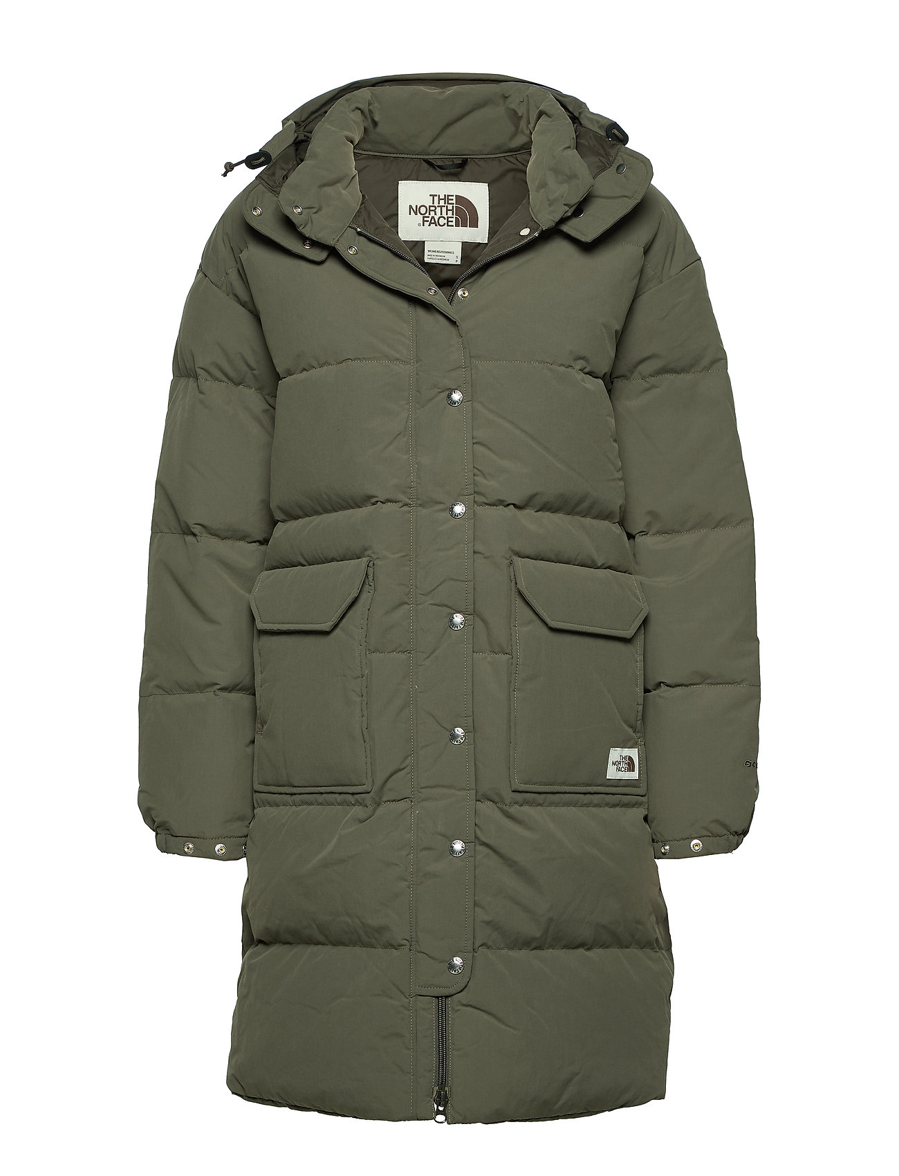 The North Face W DWN SRRA PKA - NEW TAUPE GREEN