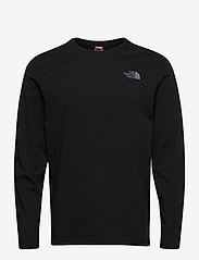 The North Face - M L/S EASY TEE - langarmshirts - tnf black-zinc grey - 0