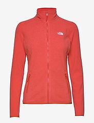 The North Face - W 100 GLACIER FULL ZIP - EU - fleece midlayer - cayenne red - 0