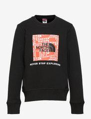 The North Face - Y BOX CREW - sweaters - tnfblk/redorang - 0