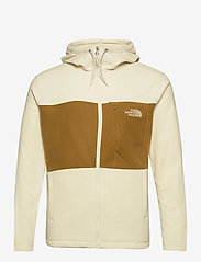 The North Face - M BLOCKED FZ HD - mid layer jackets - vintage white-utility brown - 0