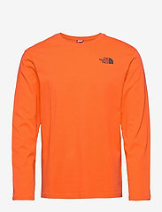 The North Face - M L/S RED BOX TEE - t-shirts à manches longues - flame - 0