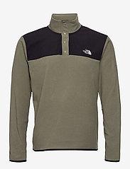 The North Face - M TKAGLCR SNPNK PO - basic-sweatshirts - nwtpegrn/tnfblk - 0