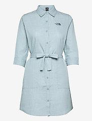 W BERNINA DRESS - TOURMALINE BLUE CHAMBRAY