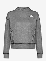 The North Face - W BASIN PULLOVER - fleece - tnf black heather - 0