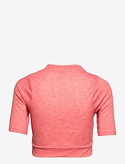 The North Face - W VYRTUE S/S CROP - crop tops - horizon red heather - 1