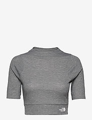 The North Face - W VYRTUE S/S CROP - crop tops - tnf black heather - 0