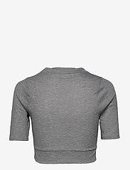 The North Face - W VYRTUE S/S CROP - crop tops - tnf black heather - 1