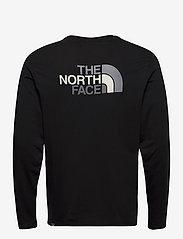 The North Face - M L/S EASY TEE - t-shirts à manches longues - tnf blk/zinc gr - 1